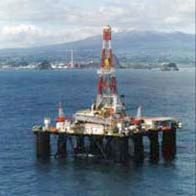 Transocean's SEDCO 702 from the air