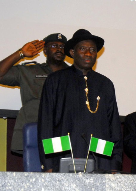 Nigeria Acting President Dr Goodluck Jonathan