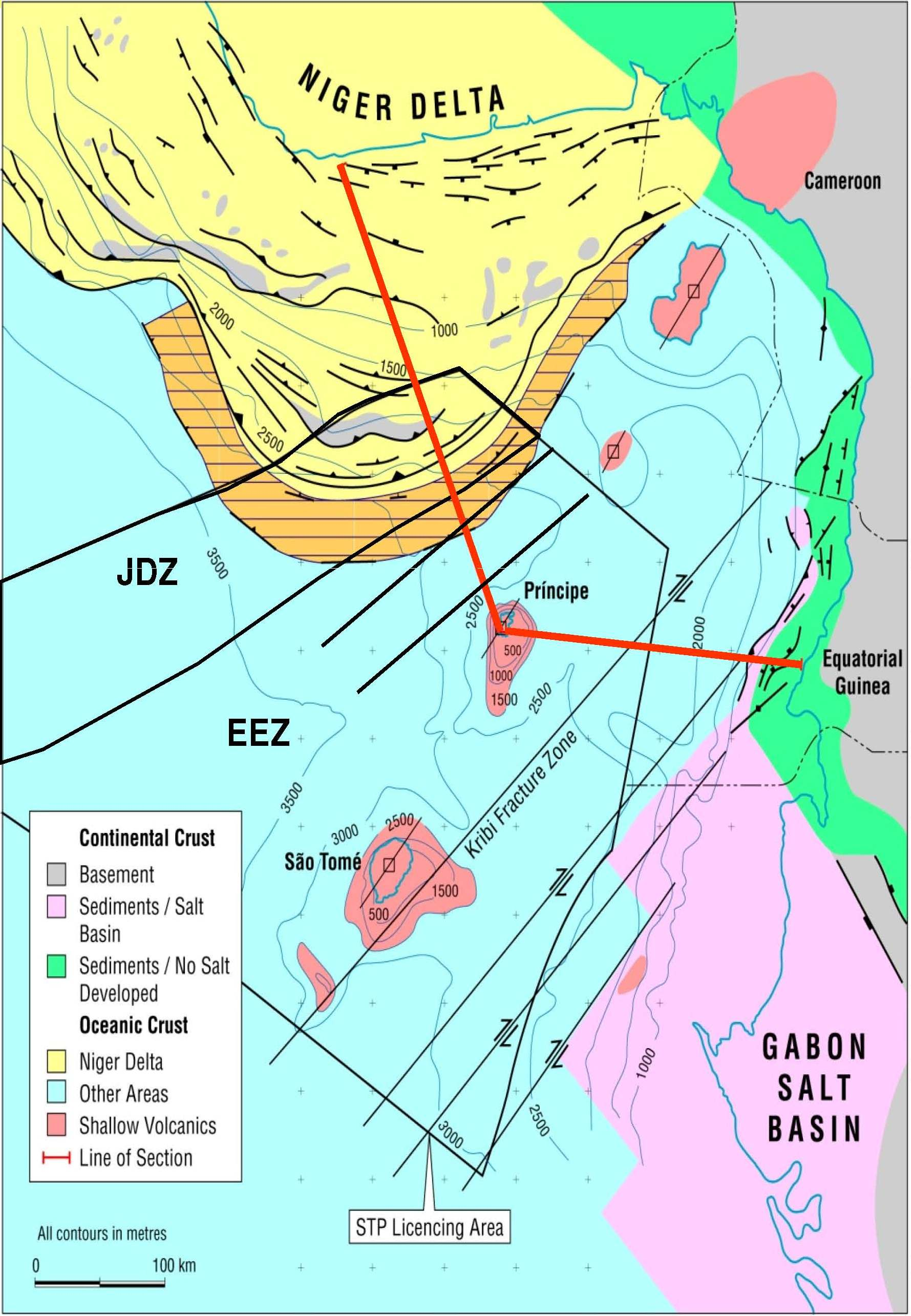 Sao Tome & Principe EEZ - Structural Elements