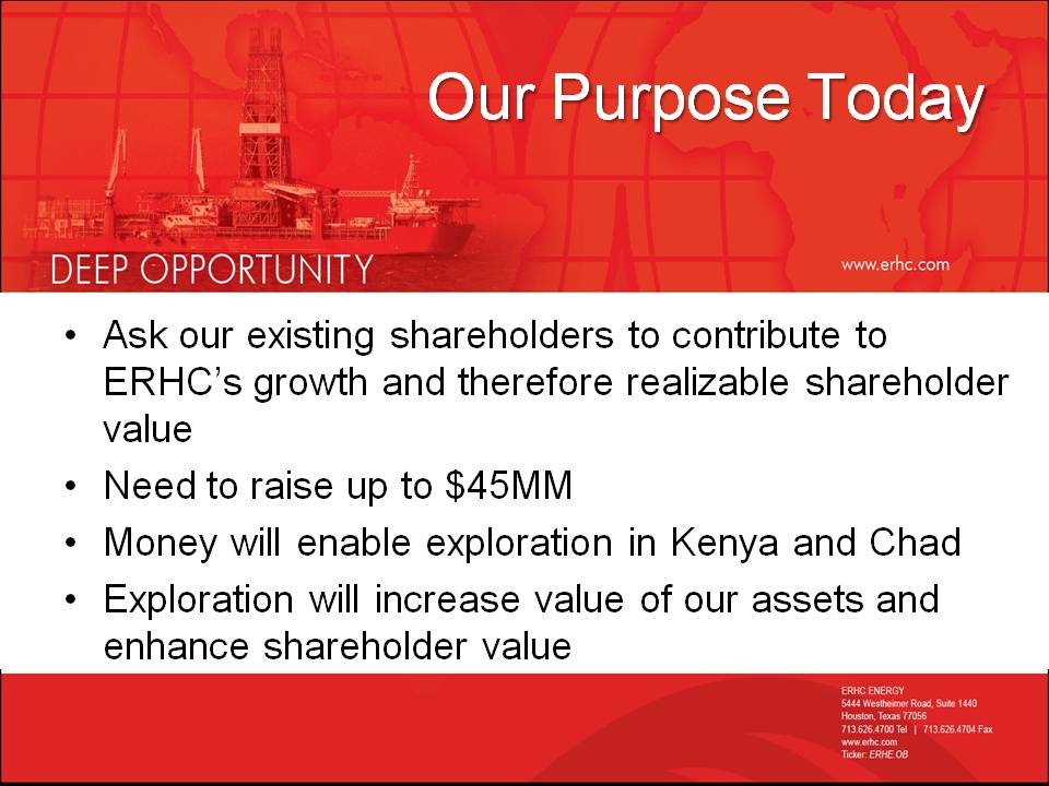 Slides from the October 2012 Special Meeting of Shareholders
