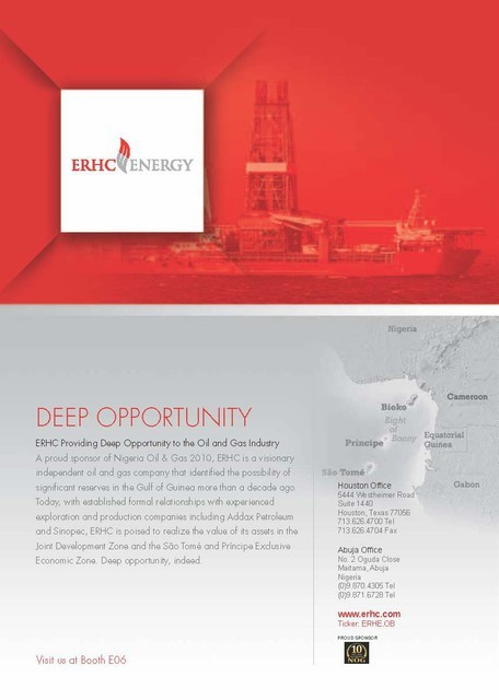 Nigeria Oil & Gas 2010 Advertisement